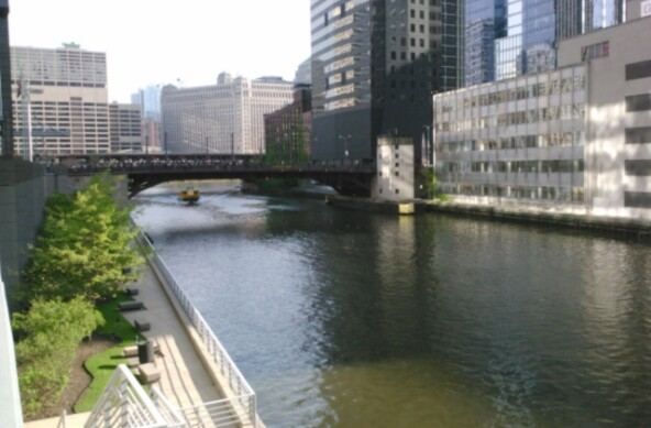 Yellow Boat on the Chicago River